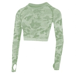 Quick Dry Running Yoga Breathable Seamless Long Sleeve Shirt