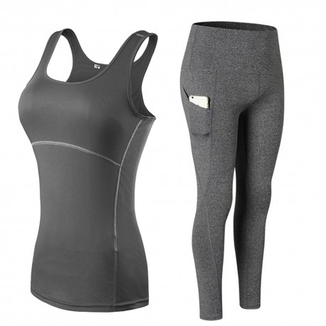 2 Pieces Yoga Suits Pant and Tank Top