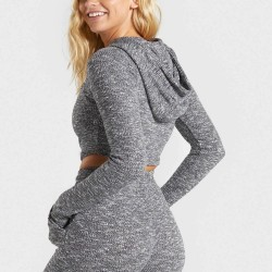 Cotton Activewear Cross Front fitness Long Sleeves Hoodies